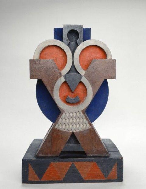 Modernités Plurielles de 1905 à 1970 @ Centre Pompidou (Paris) -  Auguste Herbin - Sculpture, 1921© ADAGP, Paris 2013
