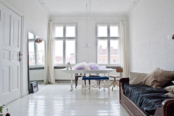 Rike-Doepp-by-Robert-Wunsch-1: White Painted Floors, Livingroom, Living Room, White Room