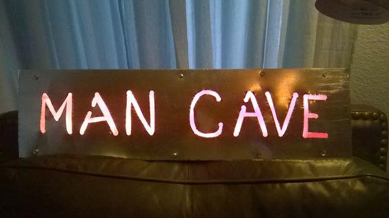 Galvanized Sheet Metal - PINK NEON - Man Cave Sign