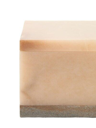 Large Hidalgo Alabaster Box Beige In 2020 Alabaster Box Tissue