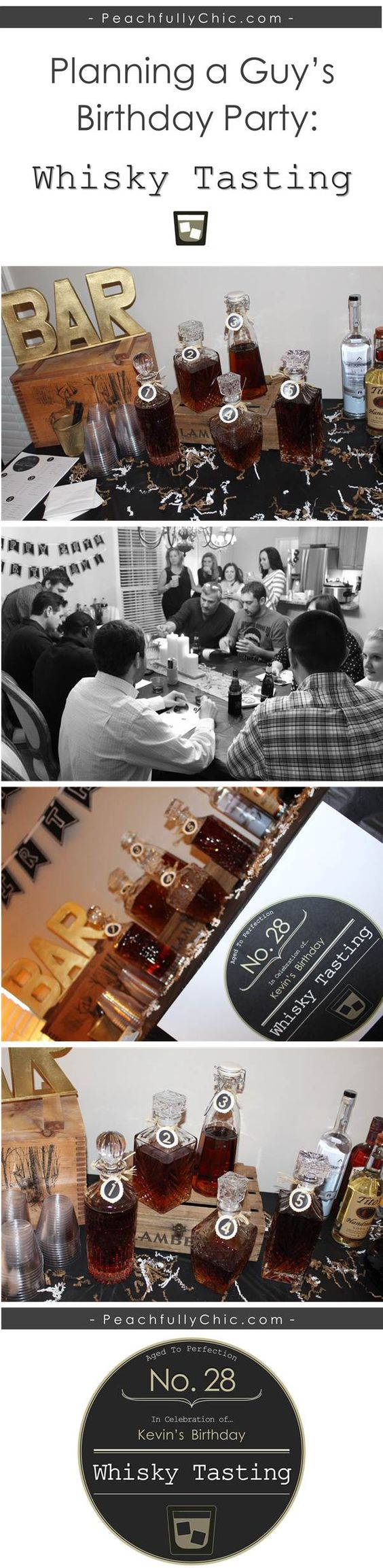 Planning A Guy's Birthday Party: Whiskey Tasting (manly party theme - birthday ideas)