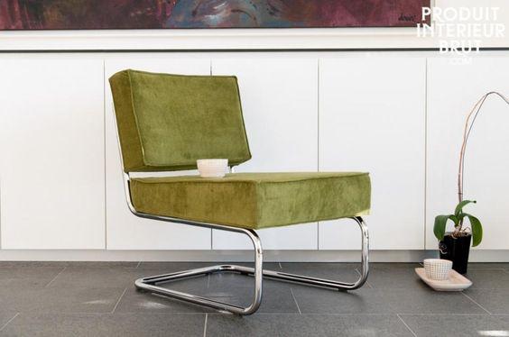 Lounge-Sessel Krömart in Samt Optik