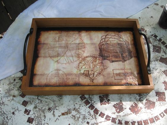 I WANT ONE. I could so make this and one day I'm going to.   Steampunk Tea Tray