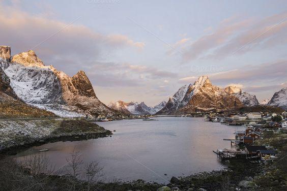 Reine, lofoten islands by inigocia on Creative Market
