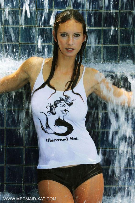Top mit Meerjungfrau in Weiß Gr. S