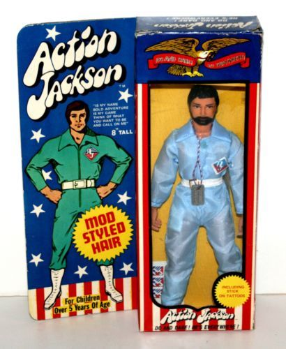 Vintage 1971 mego action jackson 8 action figure in for Three jackson toy