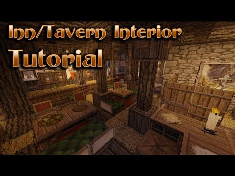 Minecraft Interior Design Tavern/Inn Tutorial YouTube Minecraft interior design Minecraft Tavern