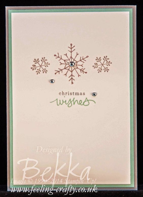 Endless wishes Christmas cards and Stampin up