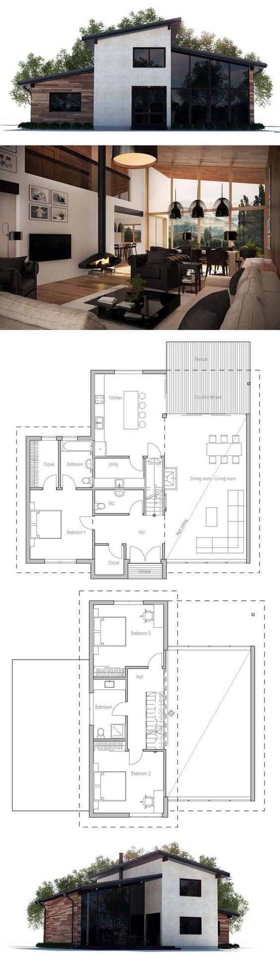 architecture maison bois et béton Idée maison Pinterest Plans de maison, Fen u00eatre et Maison # Maison Bois Et Beton