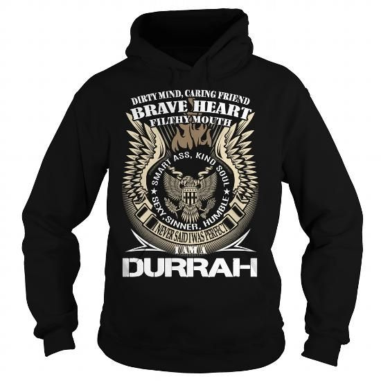 DURRAH Last Name, Surname TShirt v1 - #shirt with quotes #pretty shirt. DURRAH Last Name, Surname TShirt v1, slouchy tee,black tshirt. ORDER NOW =>...