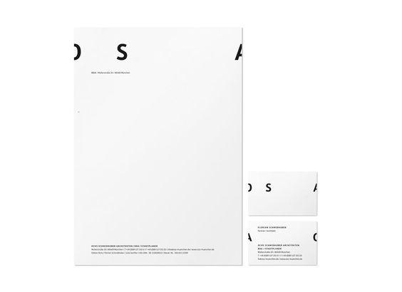 Pure & flexible Identity for OSA (Architects) by Martin et Karczinski, a design agency in Munich. #identity #branding #stationary | www.martinetkarczinski.de