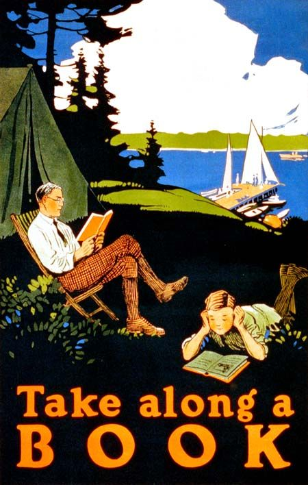 Take Along A Book (c1910). Magnus Norstad (American, 1884-1910). Library of Congress.