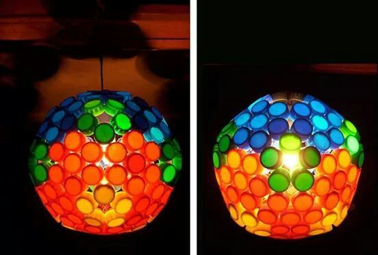 Tapitas plásticas lamp