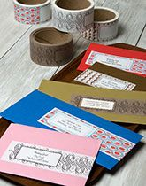 TapeSwell –love the idea of making plain labels fancier!
