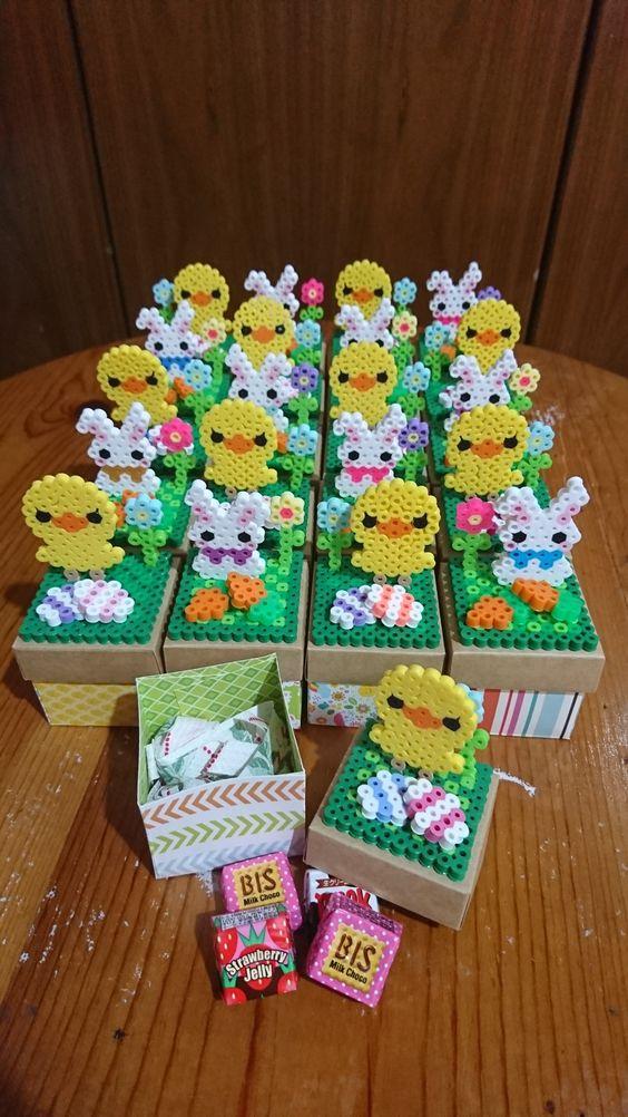 Perler Beads Easter Box