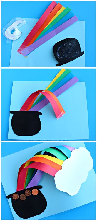 3D Over the Rainbow St. Patrick's day craft for kids to make! | CraftyMorning.com: