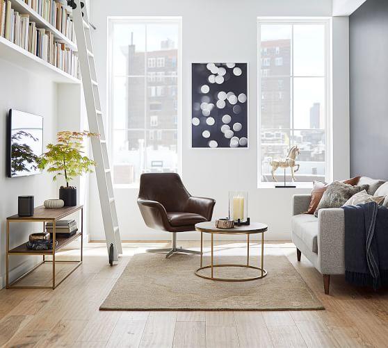 Delaney Round Coffee Table Pb Apt Small Room Design Apartment Interior Design Small Apartment Decorating