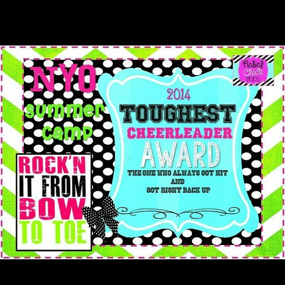 Cheer camp banquet and cheer on pinterest for Cheer award ideas