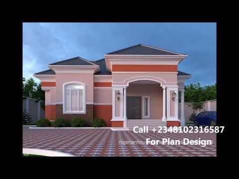Nigeria Houses Design 3 Bedroom House Plans In Nigeria Youtube In 2020 Bungalow House Plans Bungalow House Design Bungalow Floor Plans
