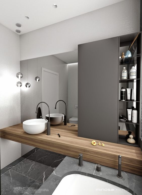 Botiquin para ba o moderno for Contemporary bathroom designs for small spaces
