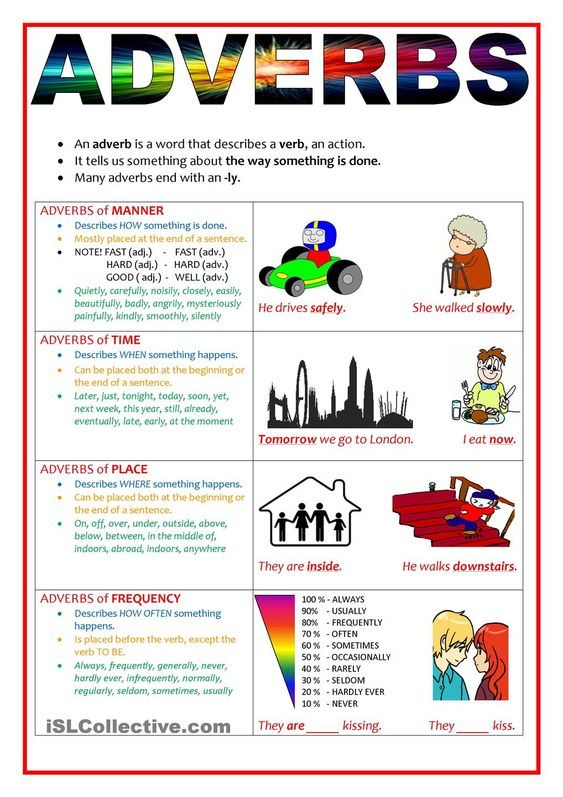 Worksheets On Adverbs Of Place And Time | Hairi.us