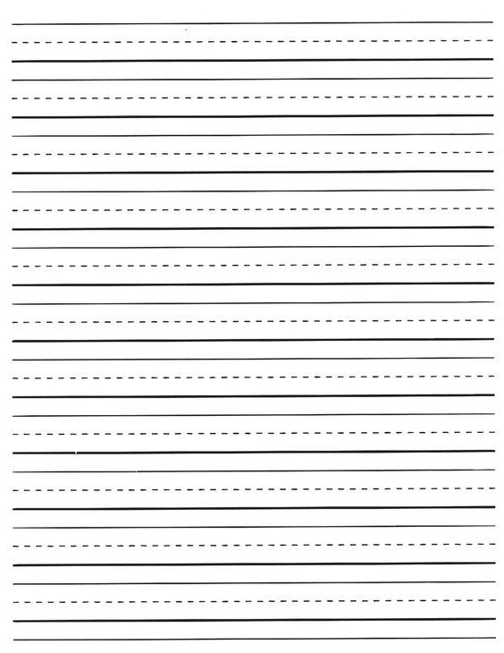 primary writing lines