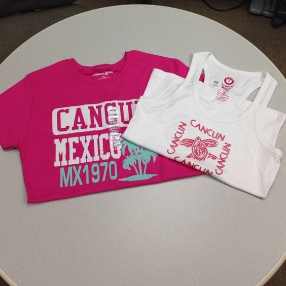NWT 🌴Cancun Bundle Brand new CANCUN t shirt and tank top. Bought on vacation, size large runs small Tops Tees - Short Sleeve