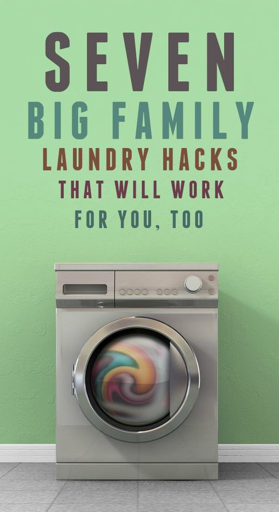 7 big family laundry hacks that can work for you too for Large family laundry