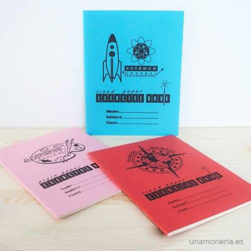 Pack 3 libretas Vintage