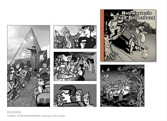 Graphic novel for LAVA ontwerpers by Norbert Vermeer / Lox creative experts
