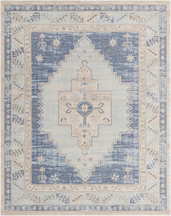 Sky Blue 8 X 10 Whitney Rug Esalerugs In 2020 Square Rugs Rugs Rugs On Carpet