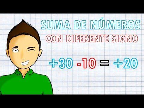 Suma De Numeros Con Diferente Signo Super Facil Youtube Funciones Matematicas Como Estudiar Matematicas Matematicas Faciles