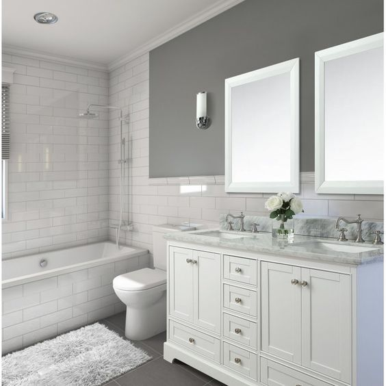 Longford 60 Double Bathroom Vanity Set Traditional Bathroom