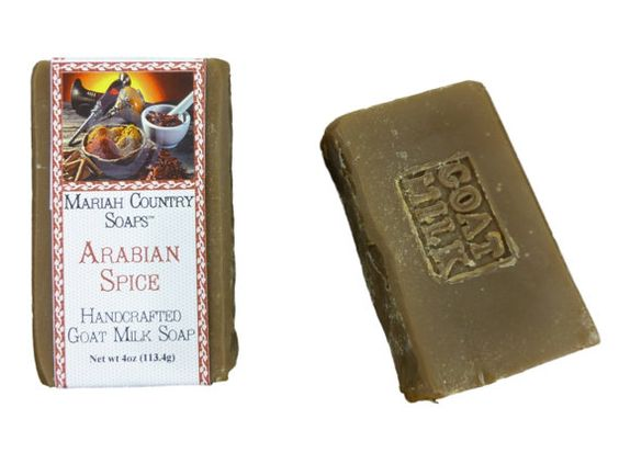 Three Bars of Arabian Spice Handcrafted Goat Milk Soap 4oz Each on Etsy, $19.00