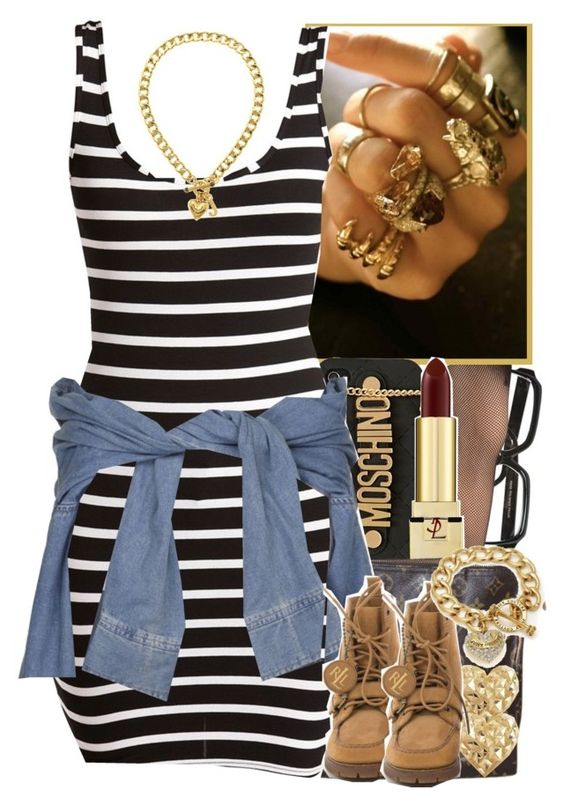 """I've done did a lot of sh.t just to live this here lifestyle."" - No. 504 by dessboo on Polyvore featuring polyvore, fashion, style, Hue, Louis Vuitton, Juicy Couture, Charlotte Russe, Moschino, Yves Saint Laurent, River Island, women's clothing, women's fashion, women, female, woman, misses and juniors"
