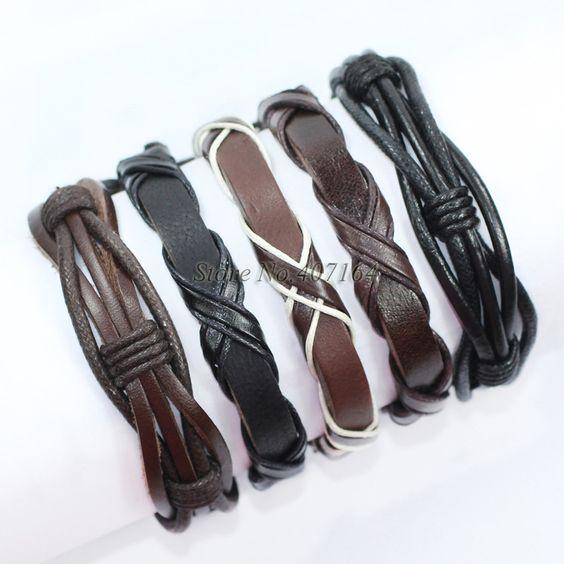 Купить Fl155 5 шт. упаковка браслеты черный и коричневый браслет ручной плетеные из натуральной кожи браслет мужчины Pulseira Masculina бесплатная доставка и другие товары категории Браслеты-талисманы в магазине SunFlower Trade Co.,Ltd на AliExpress. браслет флешки и браслет ч: