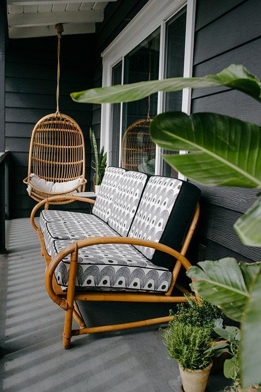 Wicker Patio Furniture, Bamboo Patio Furniture Cushions
