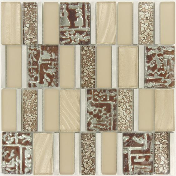 """Sheet size: 11 3/4"""" x 11 3/4""""     Tile Size: Unique Shapes     Tiles per sheet: 48     Tile thickness: 1/4""""     Grout Joints: 1/8""""     Sheet Mount: Mesh Backed     Sold by the sheet"""