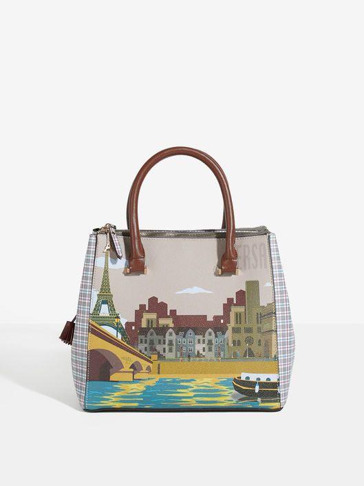 Shopper LONDON /& PARIS brown