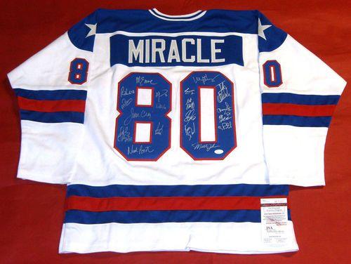 Miracle On Ice 1980 Usa Hockey Jersey 19 Autographs Craig Eruzione Olympics Jsa Usa Hockey Jersey Usa Hockey Hockey Jersey