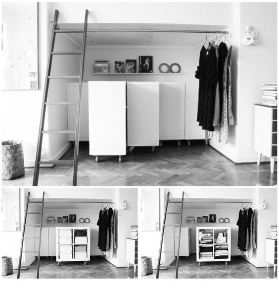 Hack des meubles kallax ex expedit d 39 ikea pour gagner de la place dans une alc ve ou sous une - Plier ses vetements pour gagner de la place ...
