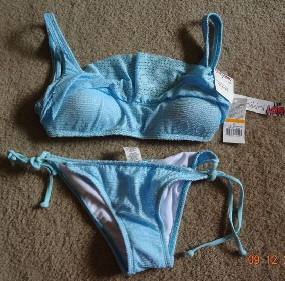Bikini Lab S Blue Bikini NWT Nylon/Elastane/Polyester Made In Indonesia HandWash #TheBikiniLab #Bikini