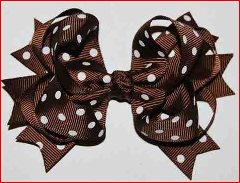 images of hair bows for little girls | ... hair elastics with mini bows grosgrain mini bows on elastic small bows