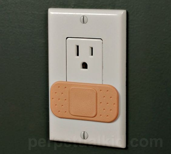 Cute way to cover outlets.