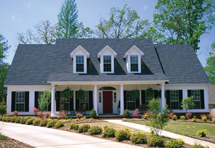 This 5 bedroom country home has a lovely exterior with a for House plans with dormers and front porch