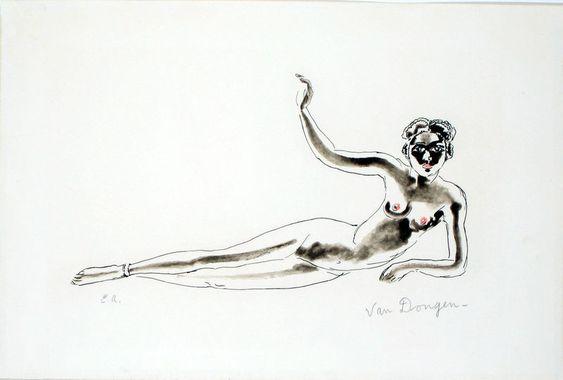 Odalisque africaine, 1968 - Kees van Dongen