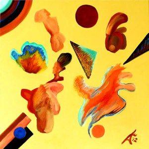 Nebulon 1. 2012. $4150. 61cm H x 61cm W. Oil on canvas stretcher. Unframed. Copyright Daphne Mason