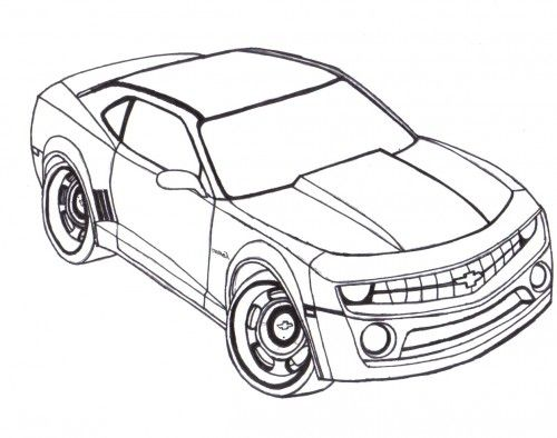 racing car chevy camaro coloring page