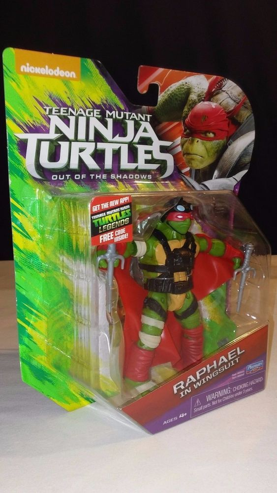 Wingsuit For Sale >> 2016 Tmnt Out Of The Shadows Figure Raphael In Wingsuit New