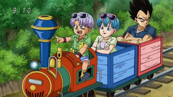 Trunks, Bulma, and Vegeta - Awww!: